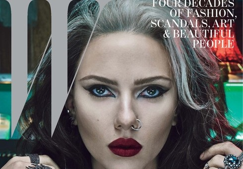 Scarlett Johansson on the cover of W Magazine