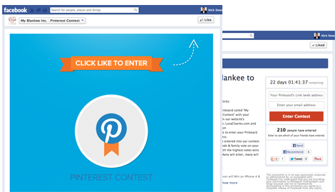 Facebook Pinterest Contest