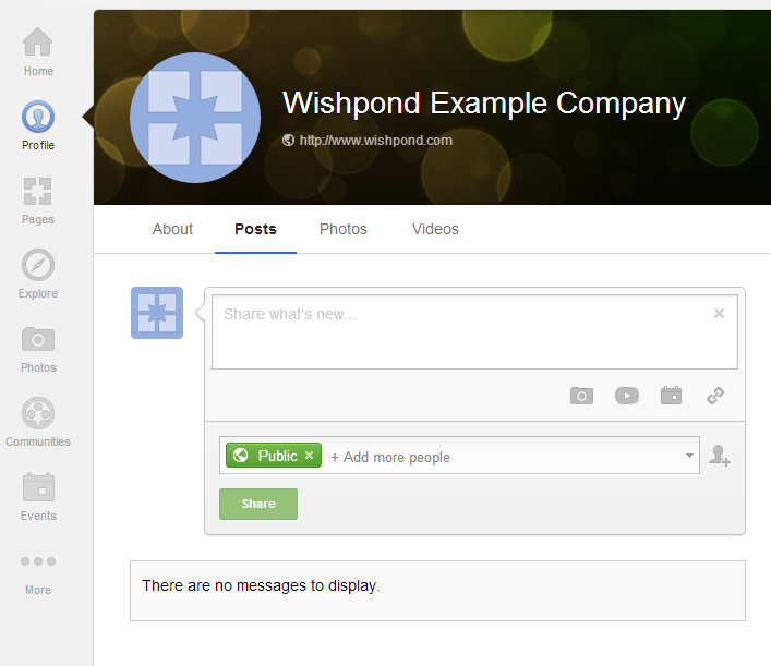 example google plus business page profile cover image