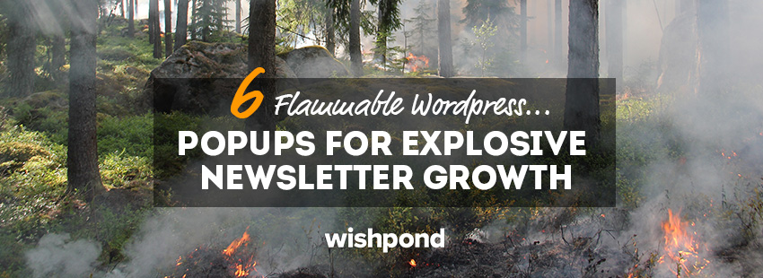 6 Flammable Wordpress Popups For Explosive Newsletter Growth